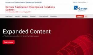 Gartner Application Strategies and Solutions Summit