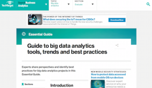 Guide to big data analytics tools trends and best practices