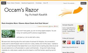 Avinash Kaushiks Occams Razor blog