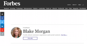 Blake Morgans Blog at Forbes