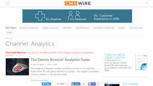 CMSWire Analytics