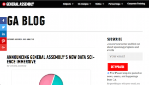 General Assembly Data Analysis