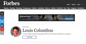 Louis Columbus Blog at Forbes