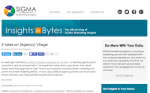 SIGMA Insights in Bytes Customer Intelligence