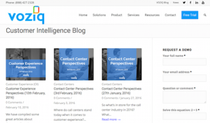 VOZIQ Customer Intelligence Blog
