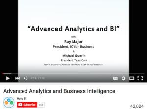 Advanced Analytics and Business Intelligence