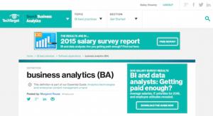Business Analytics BA