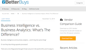 Business Intelligence vs Business Analytics Whats the Difference