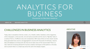 Challenges in Business Analytics