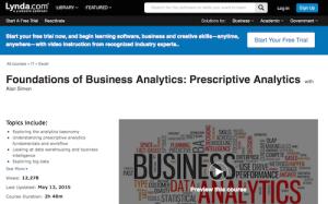 Foundations of Business Analytics Prescriptive Analytics