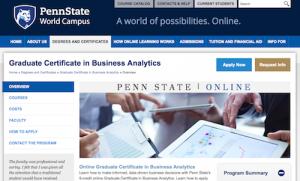 Graduate Certificate in Business Analytics