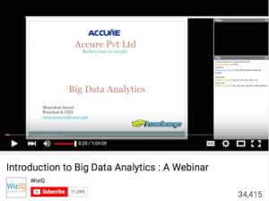 Introduction to Big Data Analytics A Webinar