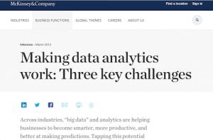 Making Data Analytics Work Three Key Challenges