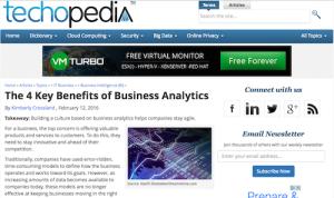 The 4 Key Benefits of Business Analytics