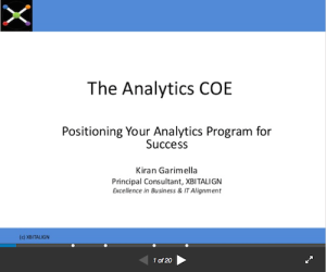 The Analytics of COE Positioning Your Analytics Program for Success