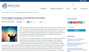 The Six Biggest Challenges Facing Big Data and Analytics