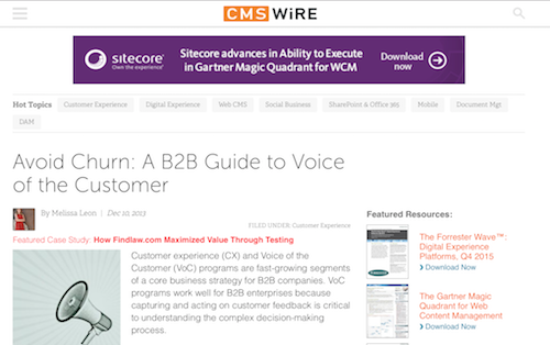 Avoid Churn A B2B Guide to Voice of the Customer