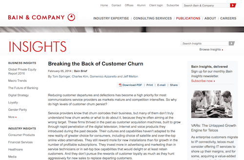 Breaking the Back of Customer Churn