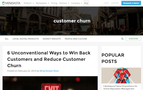 Vendasta Customer Churn