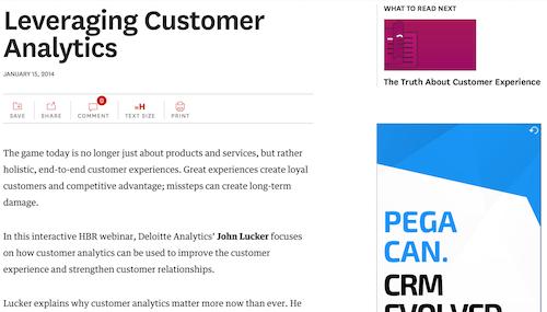 Leveraging Customer Analytics