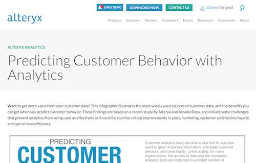 Predicting Customer Behavior with Analytics