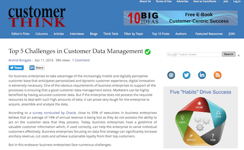 Top 5 Challenges in Customer Data Management