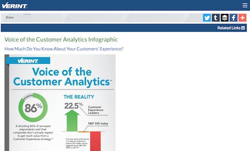 Voice of the Customer Analytics Infographic