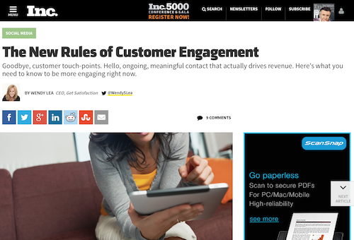 Engage customers online
