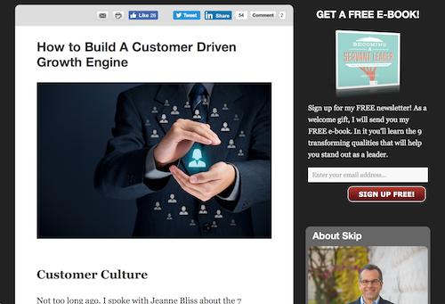 Establish a customercentric culture