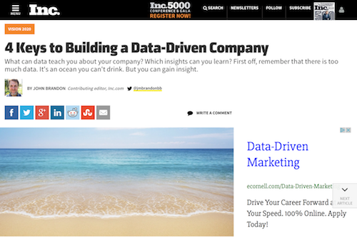 4 Keys to Building a DataDriven Company