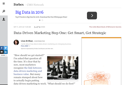 DataDriven Marketing Step One Get Smart Get Strategic