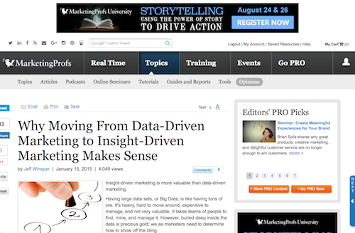 Why Moving From DataDriven Marketing to InsightDriven Marketing Makes Sense