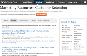 MarketingProfs Customer Retention Podcasts