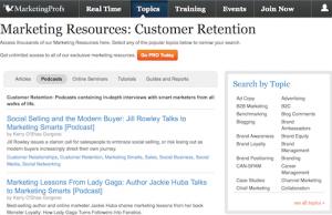 MarketingProfs Customer Retention Podcasts