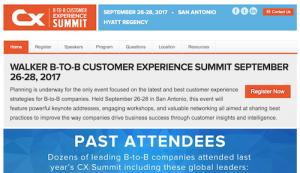 Walker BtoB CX Summit