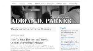 Adrian D Parker Interactive Marketing