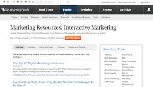 Marketing Resources Interactive Marketing
