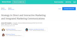 Strategy in Direct and Interactive Marketing and Integrated Marketing Communications