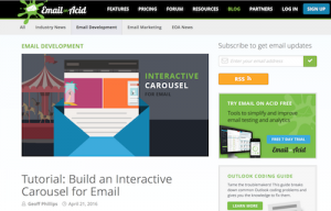 Tutorial Build an Interactive Carousel for Email