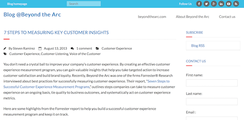 7 Steps to Measuring Key Customer Insights