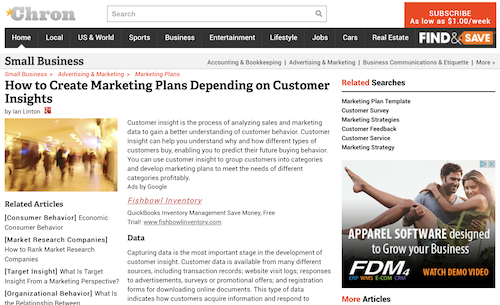 How to Create Marketing Plans Depending on Customer Insights