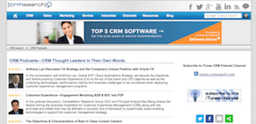 CRMSearch CRM Podcasts CRM Thought Leaders In Their Own Words