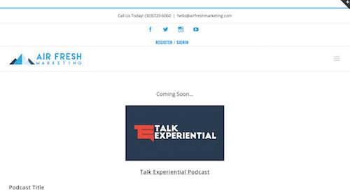 Talk Experiential