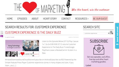 The Heart of Marketing Customer Experience