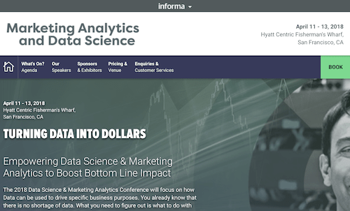 2018 Marketing Analytics & Data Science Conference
