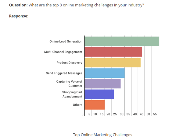 Marketing Challenges Survey Results Graphic