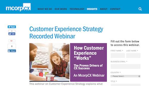 Customer Experience Strategy Recorded Webinar