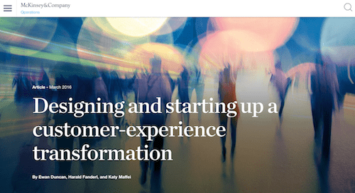 Designing and Starting Up a Customer-Experience Transformation