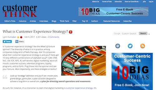 What is Customer Experience Strategy