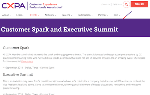 Customer Spark and Executive Summit